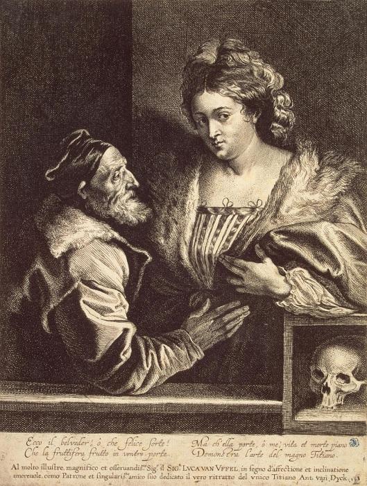 «Тициан и его возлюбленная. Автор: Антонис ван Дейк 1630-е .